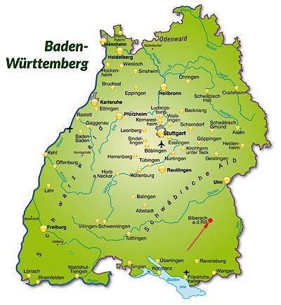 Baden Würtemberg Karte