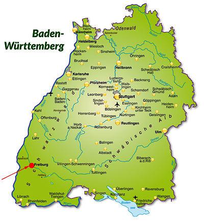 Karte Badenwürttemberg