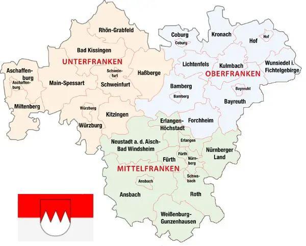 Karte Bamberg Landkarte.Franken Karte