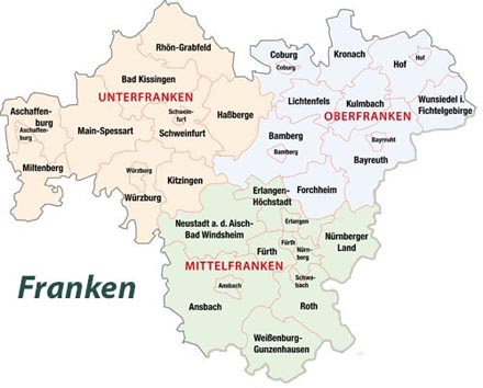 karte franken Franken Karte Mittelfranken Landkarte   vinpearl baidai.info karte franken