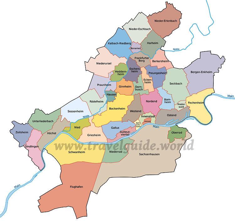 frankfurt stadtteile karte Frankfurt Stadtteile Karte | goudenelftal frankfurt stadtteile karte
