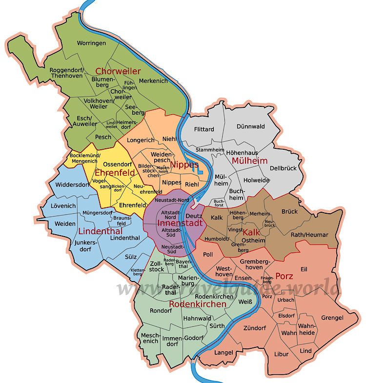 Köln Stadtbezirke