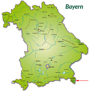 Berchtesgadener Land Karte.Berchtesgadener Land In Bayern