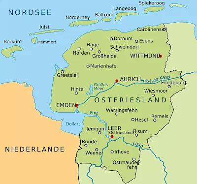 Ostfriesische Inseln In Der Nordsee