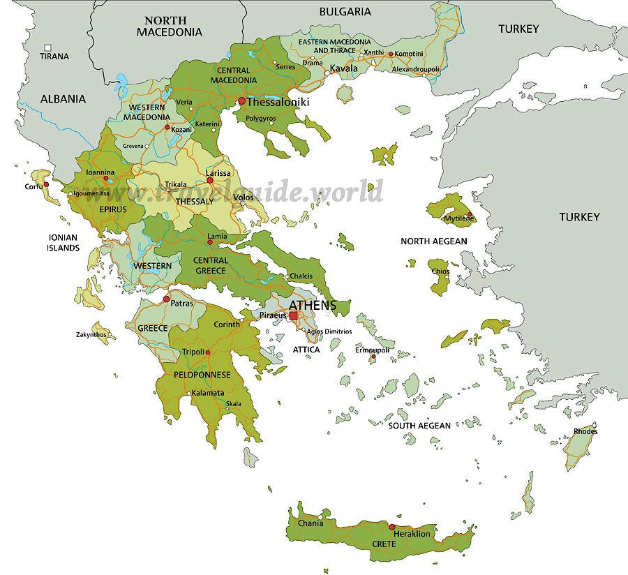Peloponnes Karte Regionen.Historische Regionen In Griechenland