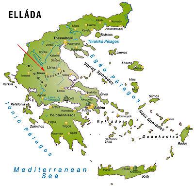 Meteora Klöster Karte.Meteora Felsenklöster In Griechenland