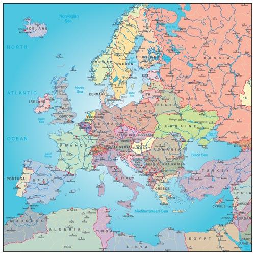 Karte Von Europa Mit Städten.Europa Länder Städte Sehenswürdigkeiten