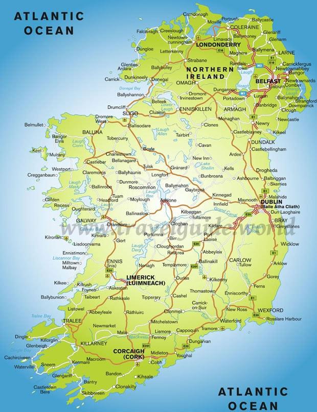sightseeing irland karte Sehenswürdigkeiten in Irland und Nordirland
