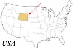 Wyoming an den Rocky Mountains - USA